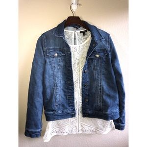 Denim jacket small David button buffalo